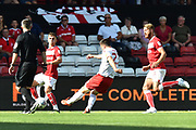 Joe Lolley (23) of Nottingham Forset shoots at goal during the EFL Sky Bet Championship match between Bristol City and Nottingham Forest at Ashton Gate, Bristol, England on 4 August 2018. Picture by Graham Hunt.