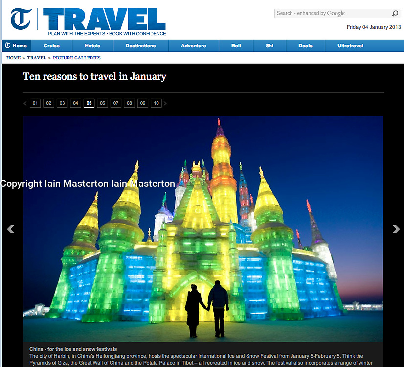 The Telegraph trave;Harbin Ice sculpture festival
