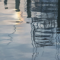 Frisco Harbor reflecting late sunlight, Frisco, NC
