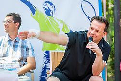 Rado Mulej during Press conference of ATP Challenger Portoroz, on June 16, 2018 in Tivoli, Ljubljana, Slovenia. Photo by Ziga Zupan / Sportida