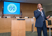 Dr. Rodney Watson comments during a Principal meeting, June 11, 2014.