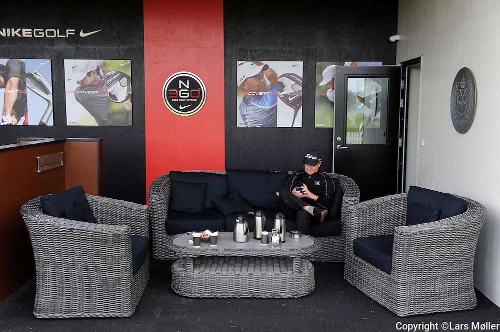 DK Caption:<br /> 20140815, Aars, Danmark:<br /> Made in Denmark Golf. 2. runde: Driving range lounge for spillerne<br /> Foto: Lars M&oslash;ller<br /> UK Caption:<br /> 20140815, Aars, Denmark:<br /> Made in Denmark Golf.  2nd round: Driving range for the players<br /> Photo: Lars Moeller