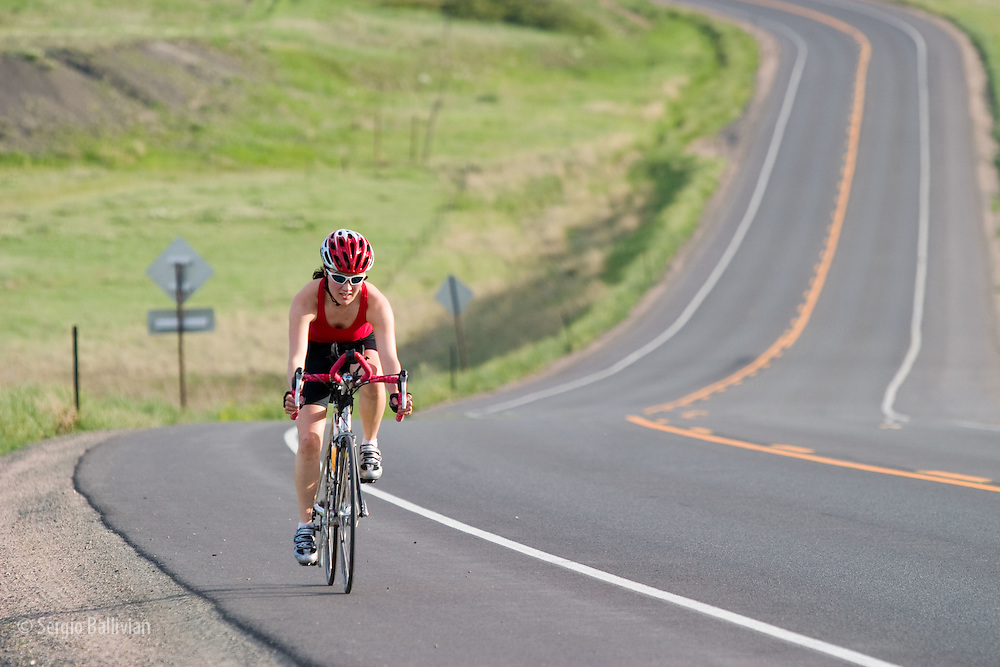 Road bikers enjoy clear roads and warm temps in Colordo's Front Range near Boulder, Colorado.
