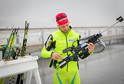 Klemen Bauer during media day of Slovenian biathlon team before new season 2013/14 on November 14, 2013 in Rudno polje, Pokljuka, Slovenia. Photo by Vid Ponikvar / Sportida