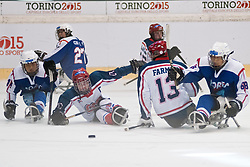 KOR v GBR during the 2013 World Para Ice Hockey Qualifiers for Sochi, Torino, Italy