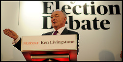 The Labour Party Candidate for the London Mayor Ken Livingstone during the Evening Standard Mayoral Debate, during the Mayoral Campaign, April 11, 2012. Photo By Andrew Parsons/I-images