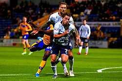 Omari Sterling-James of Mansfield Town is fouled by George Taft of Cambridge United - Mandatory by-line: Ryan Crockett/JMP - 17/09/2019 - FOOTBALL - One Call Stadium - Mansfield, England - Mansfield Town v Cambridge United - Sky Bet League Two