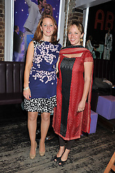 Left to right, LAURA WALFORD and GERALDINE WILLCOCKS at a party in aid of the Sebastian Hunter Memorial Trust held at Bunga Bunga, 37 Battersea Bridge Road, London SW11 on 21st June 2012.