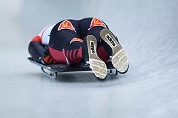 03.12.2011, Eiskanal, Igls, AUT, Viessmann FIBT Bob und Skeleton Weltcup, Skeleton Herren, 1. Durchgang, im Bild Tomass Dukurs (LAT) // Tomass Dukurs  of Latvia during first run men's Skeleton at FIBT Viessmann Bobsleigh and Skeleton World Cup at Olympic ice canal, Innsbruck Igls, Austria on 2011/12/03. EXPA Pictures © 2011, PhotoCredit: EXPA/ Johann Groder