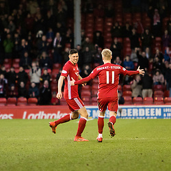Aberdeen v Kilmarnock, Scottish Premiership, 27th January 2018<br /> <br /> Aberdeen v Kilmarnock, Scottish Premiership, 27th January 2018 &copy; Scott Cameron Baxter | SportPix.org.uk<br /> <br /> Aberdeen 19 Scott McKenna scores a goal from 30-40 yards out moments after his first goal. 2-1 Aberdeen.