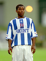 Leon Knight (Brighton) On loan from Chelsea. Brighton & Hove Albion v Leicester City. 4/8/2003. Pre Season friendly match. Credit : Colorsport/Andrew Cowie.