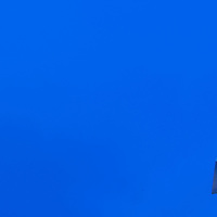Blue sky in Rabat, Morocco. This is an example of 'negative space' as photographers call it.