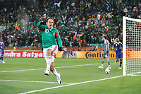 FOOTBALL - FIFA WORLD CUP 2010 - GROUP STAGE - GROUP A - FRANCE v MEXICO - 16/06/2010 - PHOTO GUY JEFFROY / DPPI - JOY CUAUHTEMOC BLANCO (MEX) AFTER HIS GOAL