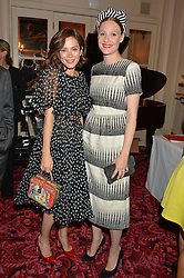 Left to right, ANNA FRIEL and ROMOLA GARAI at the Audi Ballet Evening at The Royal Opera House, Covent Garden, London on 23rd April 2015.