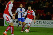Fleetwood Town Midfielder Thomas Grant during the Sky Bet League 1 match between Fleetwood Town and Walsall at the Highbury Stadium, Fleetwood, England on 15 March 2016. Photo by Pete Burns.