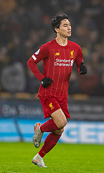 WOLVERHAMPTON, ENGLAND - Thursday, January 23, 2020: Liverpool's substitute Takumi Minamino during the FA Premier League match between Wolverhampton Wanderers FC and Liverpool FC at Molineux Stadium. (Pic by David Rawcliffe/Propaganda)