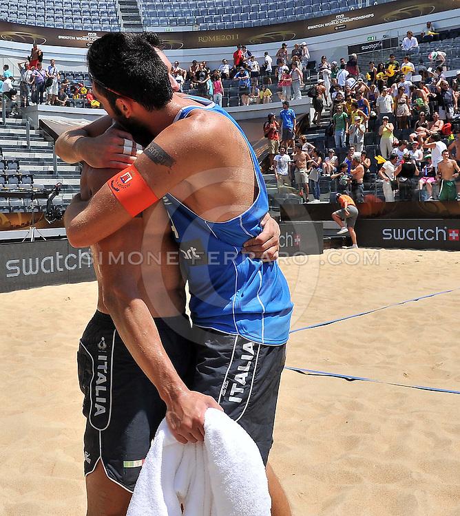 Roma, 17/06/2011..Swatch World Championships Rome2011. Foro Italico..Nummerdor-Schuil Ned vs Nicolai-Martino ITA.Foto Simone Ferraro - GMT