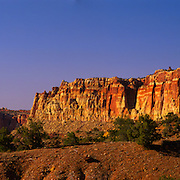 Waterpocket Fold panoramic in Capitol Reef National Park, UT.
