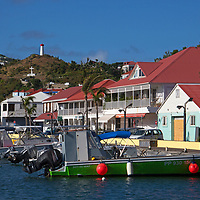 France, St. Barts, Gustavia. Boats in Gustavia Harbor. Saint Barthelemy.