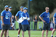 Jan 23, 2019; Kissimmee, FL, USA;  Dallas Cowboys Head Coach Jason Garrett and some of his coaching staff at the NFC team practice at the 2019 Pro Bowl at ESPN Wide World of Sports Complex. (Kim Hukari/Image of Sport)