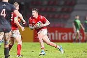 Canadian player Theo Sauder finds some room to run in the second half during the Rugby World Cup qualifier between Hong Kong and Canada at Stade Delort, Marseilles, France on 23 November 2018. Picture by Ian  Muir.