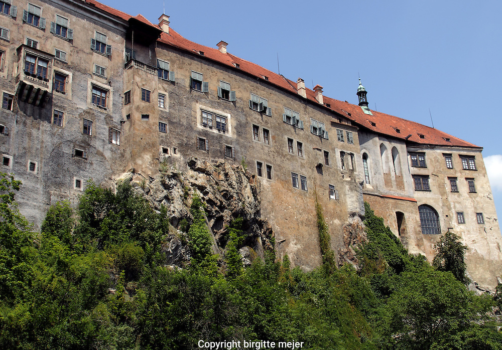 View to part of the Cesky Krumlov Castle in the Czech Republic.