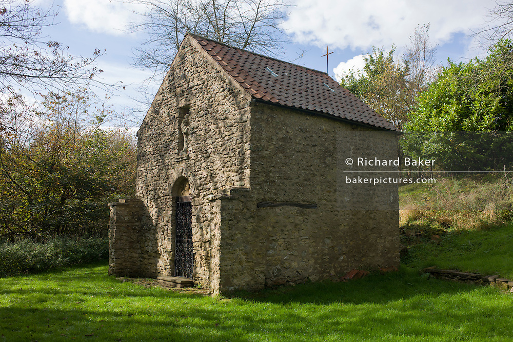 The Chapel built by sculpter John Bunting at Scotch Corner on Bronze Age Hambleton Street and medieval drovers route, North Yorkshire.