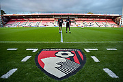 Vitality Stadium AFC Bournemouth emblem logo during the EFL Cup match between Bournemouth and Brighton and Hove Albion at the Vitality Stadium, Bournemouth, England on 19 September 2017. Photo by Adam Rivers.