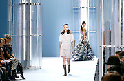 Models display the creations of Carolina Herrera during the Mercedes-Benz Fall/Winter 2015 shows at the Theater in Lincoln Center in New York City, New York on February 16, 2015.