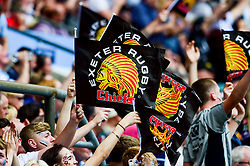 Exeter Chiefs fans celebrate - Mandatory by-line: Ryan Hiscott/JMP - 01/06/2019 - RUGBY - Twickenham Stadium - London, England - Exeter Chiefs v Saracens - Gallagher Premiership Rugby Final