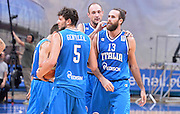 DESCRIZIONE : Qualificazioni EuroBasket 2015 Russia-Italia  <br /> GIOCATORE : esultanza team italia<br /> CATEGORIA : nazionale maschile senior A <br /> GARA : Qualificazioni EuroBasket 2015 - Russia-Italia<br /> DATA : 13/08/2014 <br /> AUTORE : Agenzia Ciamillo-Castoria