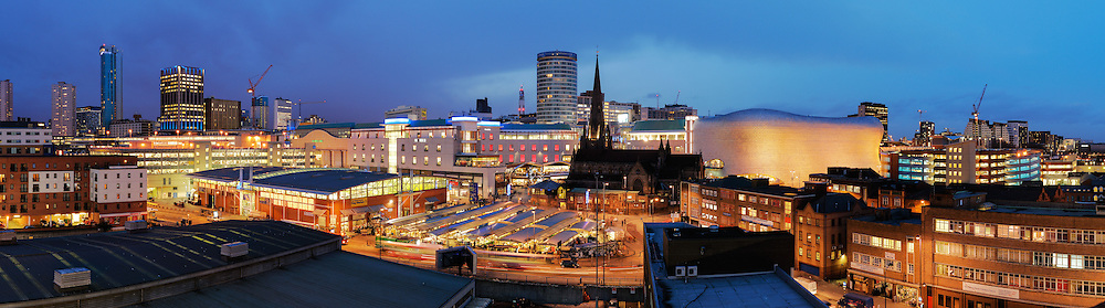 Birmingham panoramic city skyline