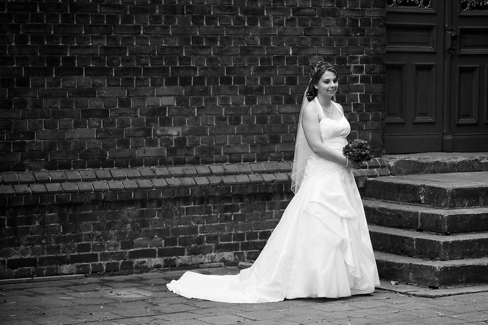 Ein Porträt der Braut