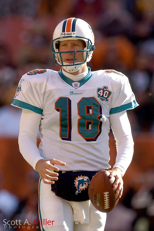 Miami Dolphins quarterback Sage Rosenfels prior to the Dolphins game against the Cleveland Browns at Cleveland Browns Stadium on Nov. 20, 2005 in Cleveland, Ohio.        ..©2005 Scott A. Miller
