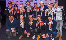 02.03.2019, Seefeld, AUT, FIS Weltmeisterschaften Ski Nordisch, Seefeld 2019, Medaillenfeier, im Bild Alle Med Seefeld // during a medal celebration of FIS Nordic Ski World Championships 2019. Seefeld, Austria on 2019/03/02. EXPA Pictures © 2019, PhotoCredit: EXPA/ Erich Spiess