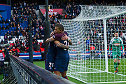 Kylian Mbappe (psg) and Layvin Kurzawa (psg) celebrate the second goal during the French Championship Ligue 1 football match between Paris Saint-Germain and SCO Angers on march 14, 2018 at Parc des Princes stadium in Paris, France - Photo Pierre Charlier / ProSportsImages / DPPI