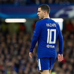 Eden Hazard of Chelsea during the Champions League match between Chelsea and Brcelona at Stamford Bridge, London on Tuesday 20th February 2018.  (C) Steven Morris | SportPix.org.uk