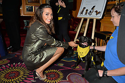 Singer LAURA WRIGHT at a dinner to celebrate the 125th anniversary of the Dog's Trust held at Annabel's, Berkeley Square, London on 1st November 2016.