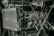 The Curtiss OX-5 engine on the Parker Pusher.