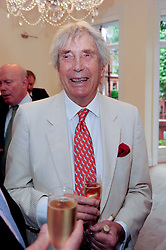 Sculptor DAVID WYNNE at a reception to celebrate the repairs on the Queen Elizabeth Gate in Hyde Park after it's successful repair following damaged sustained in a traffic accident in early 2010.  The party was held at 35 Sloane Gardens, London on 7th June 2010.