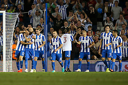 Goal, Glenn Murray of Brighton & Hove Albion scores, Brighton & Hove Albion 3-0 Nottingham Forest - Mandatory by-line: Jason Brown/JMP - 12/08/2016 - FOOTBALL - Amex Stadium - Brighton, England - Brighton & Hove Albion v Nottingham Forest - Sky Bet Championship