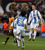 Photo: Rich Eaton.<br /> <br /> Wolverhampton Wanderers v Sheffield Wednesday. Coca Cola Championship. 28/10/2006. Chris Brunt #11celebrates after scoring for Sheffield Wednesday to make the score 2-1 to Wednesday
