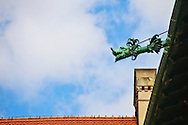 A decorative drain spout inside the Wawel Castle courtyard in Krakow (Cracow) Poland.