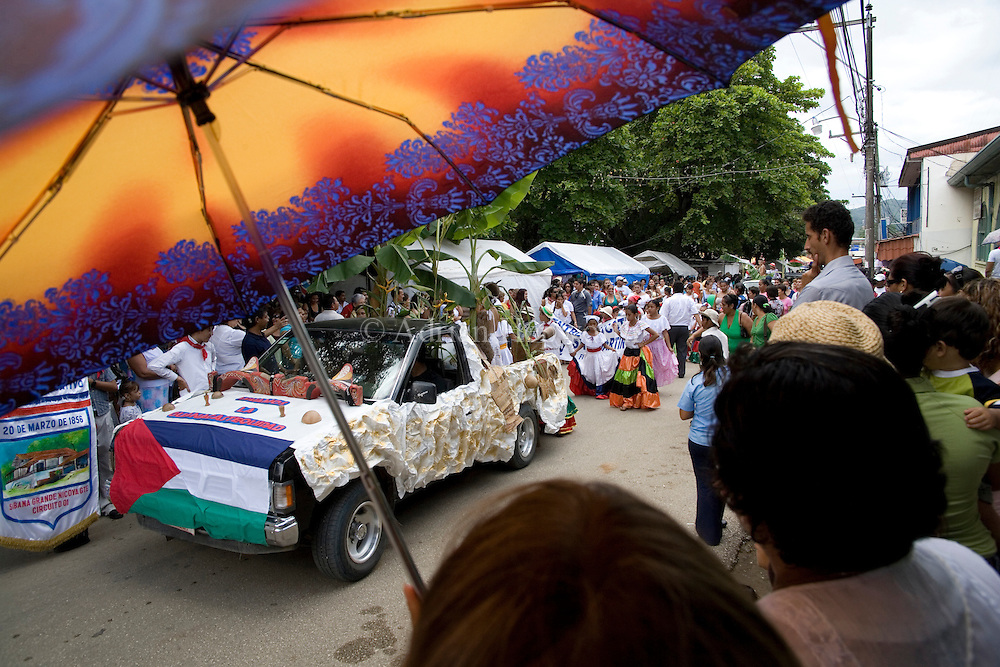 Parade in Nicoya on Guanacaste Day - 25 July. Guanacaste, Costa Rica.<br /> <br /> For pricing click on ADD TO CART (above). We accept payments via PayPal.