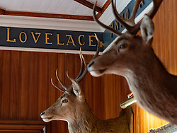 Interior of the Torridon Hotel on the North Coast 500 tourist motoring route in northern Scotland, UK