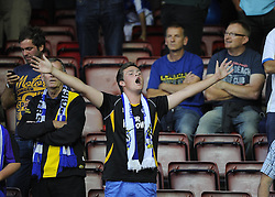 Bristol Rovers fans  - Photo mandatory by-line: Joe Meredith/JMP - Tel: Mobile: 07966 386802 04/09/2013 - SPORT - FOOTBALL -  Ashton Gate - Bristol - Bristol City V Bristol Rovers - Johnstone Paint Trophy - First Round - Bristol Derby
