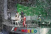 October 30, 2016: Mexican Grand Prix. Sebastian Vettel (GER), Ferrari, Lewis Hamilton (GBR), Mercedes, Nico Rosberg  (GER), Mercedes