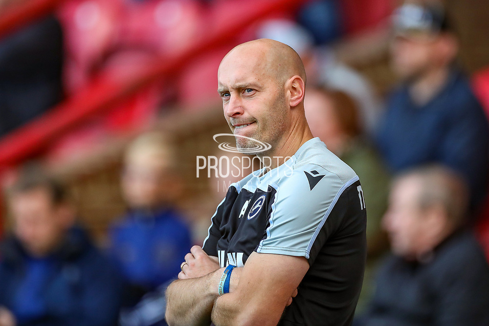 Millwall Caretaker Manager Adam Barrett during the EFL Sky Bet Championship match between Brentford and Millwall at Griffin Park, London, England on 19 October 2019.