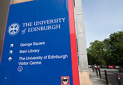 Sign at  University of Edinburgh in Scotland, United Kingdom