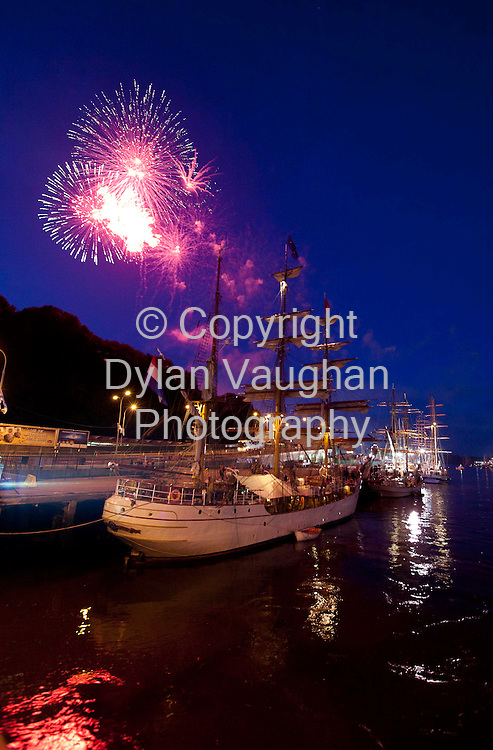 Fireworks with the ships at the Waterford Tall Sips Festival..Picture Dylan Vaughan